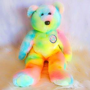 231 Ty Beanie BUDDY B B BEAR BIRTHDAY TYE DYE Toy